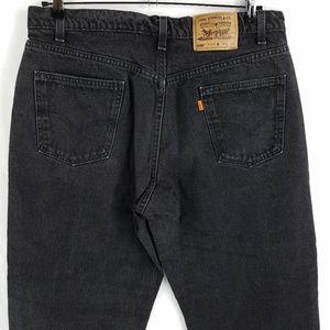 Vintage Levis 550 USA Made Orange Tab Jeans 36x29